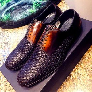 EUC Dolce & Gabbana Woven Leather Derby